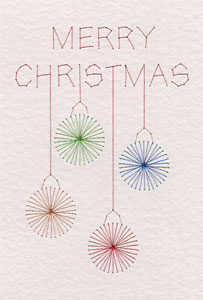 Free Merry Christmas baubles pattern added at PinBroidery