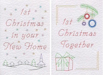 1st Christmas patterns added at Stitching Cards