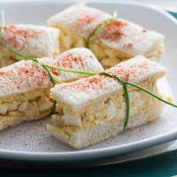 Deviled Egg Salad Finger Sandwiches