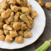 Classic Southern Fried Okra with Cornmeal