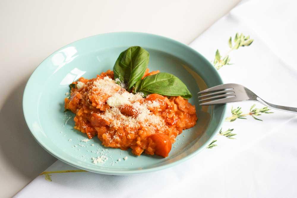 Risotto met tomaat en chorizo