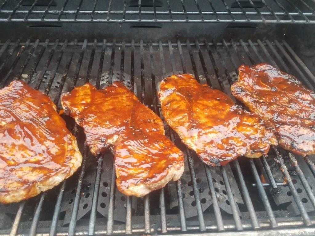 pork steaks with bbq sauce