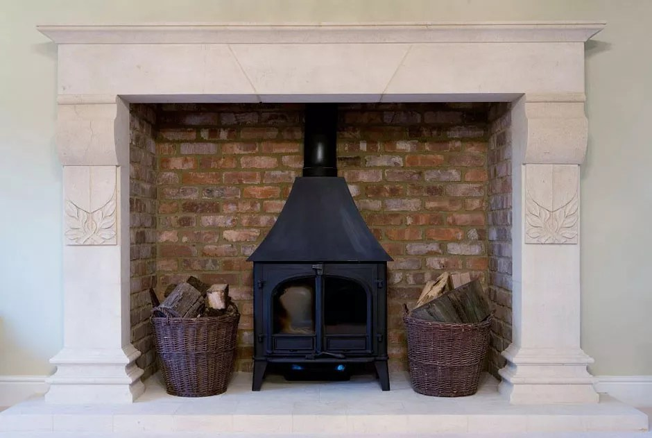 Bath Stone Fireplace Large New Build Property In CHESHIRE