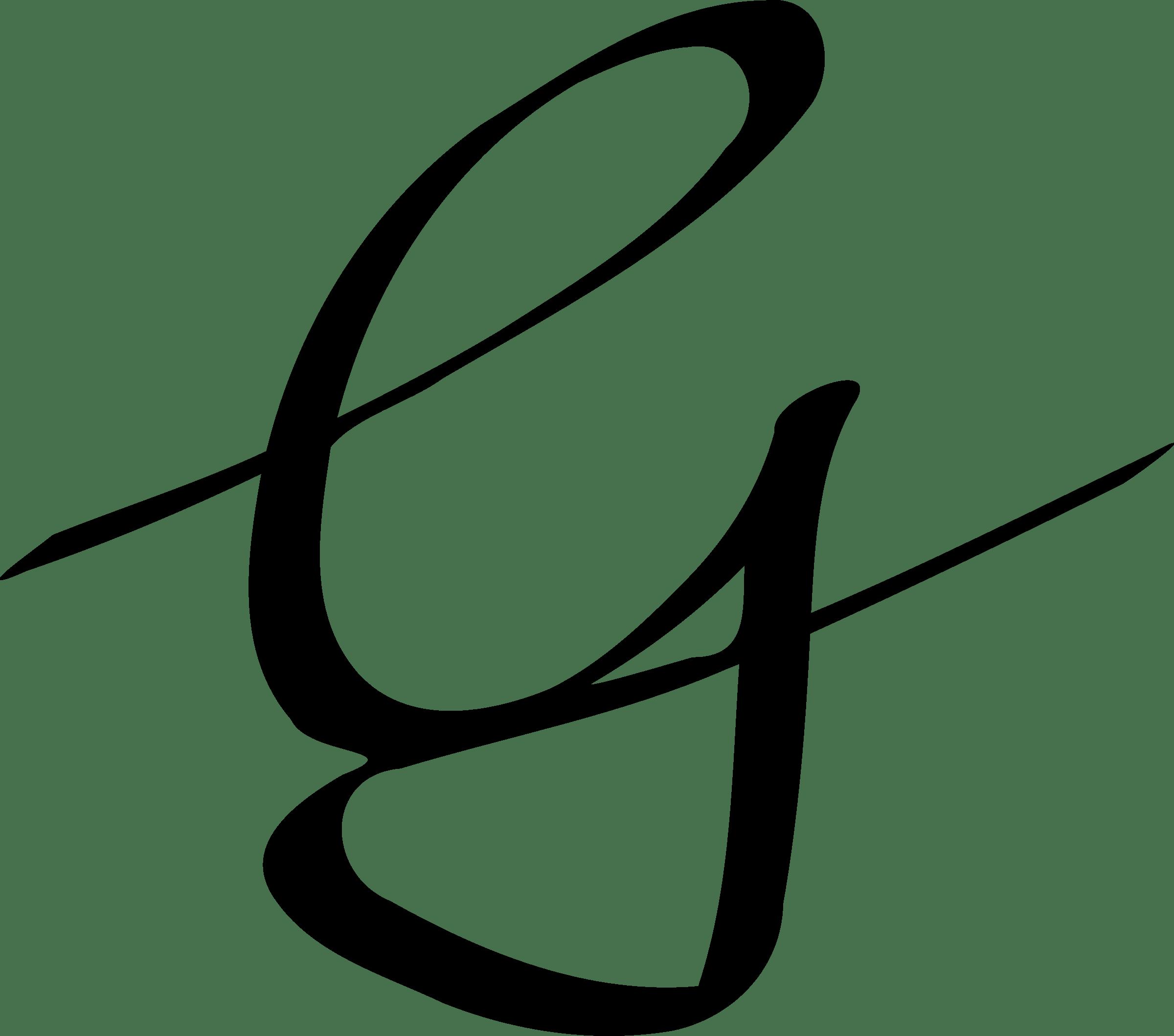 Handwriting Cursive Capital G