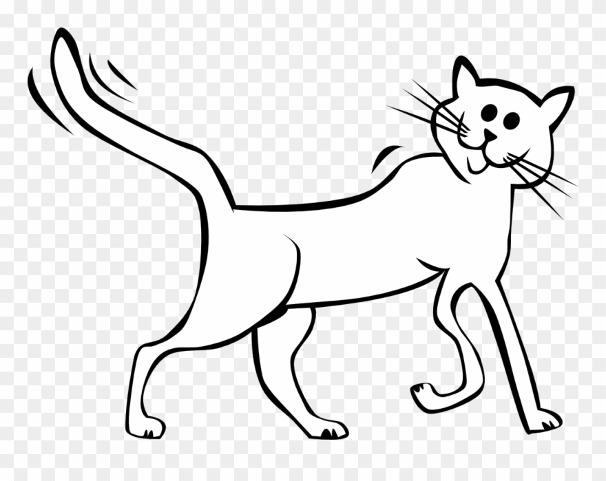 Clip Art Free Download Cats Clipart Black And White Cat Cartoon Image Black And White Png Download 4943 Pinclipart