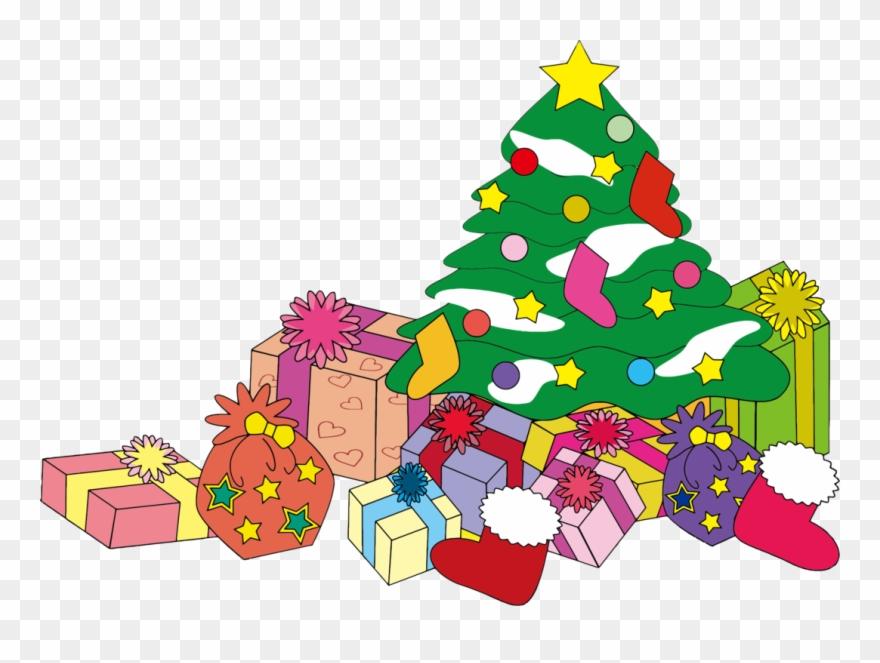 Christmas Tree Clip Art Christmas Christmas Gift Christmas Christmas Tree Presents Clip Art Png Download 57 Pinclipart