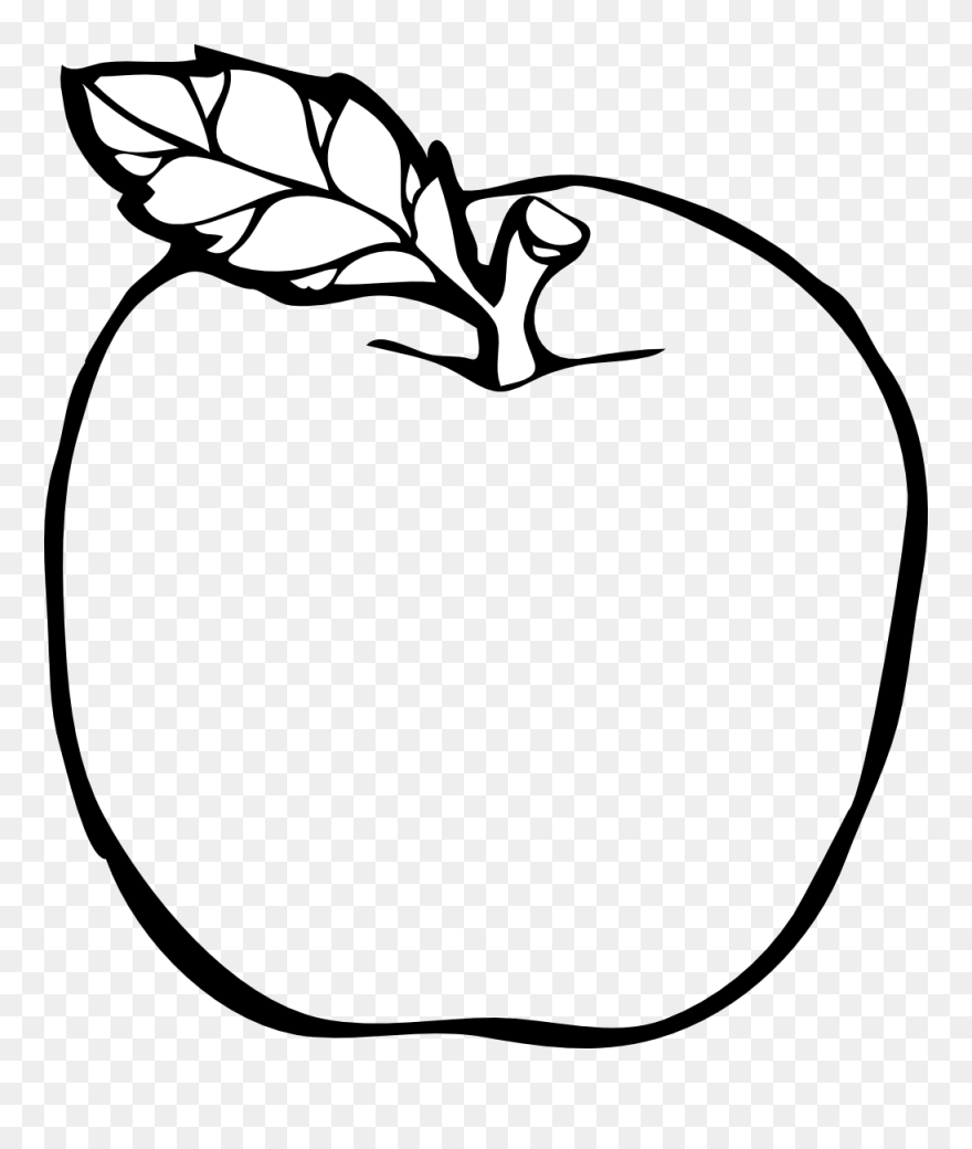 Apple Colouring Page Clipart Coloring Book Colouring Colouring Page Of Apple Png Download 9350 Pinclipart