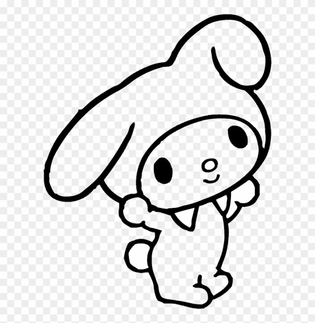 Real Madrid And Barcelona - My Melody Coloring Pages Clipart