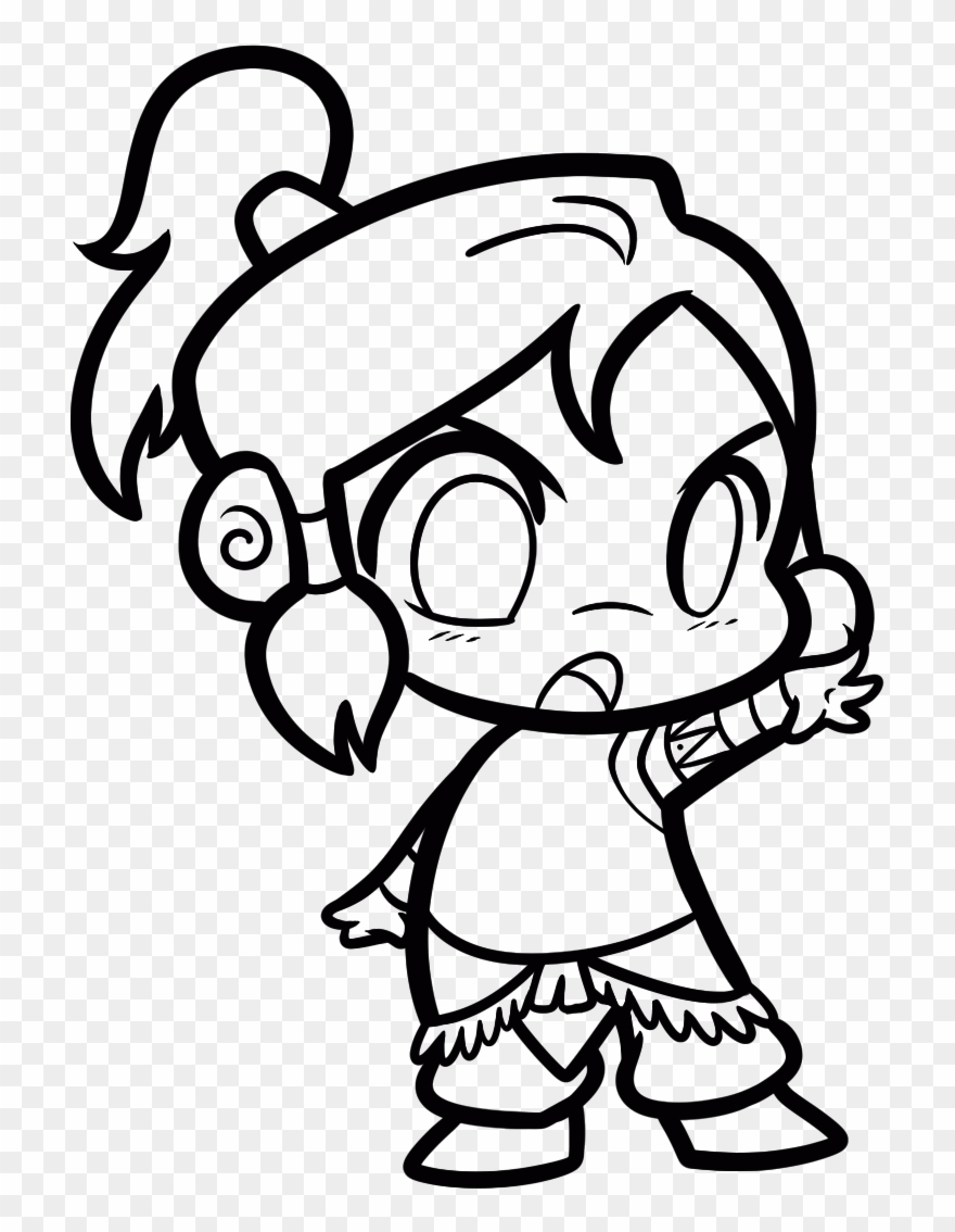 Moana Chibi Coloring Pages Clipart 1310336 Pinclipart