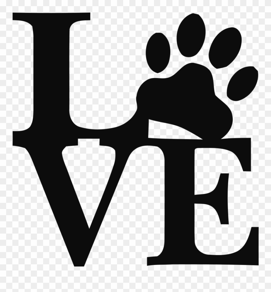 Download Download Welcome - Love Paw Print Svg Clipart (#160582 ...