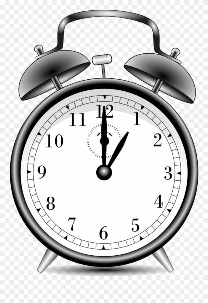 Alarm Clock Alarmclock Black White Line