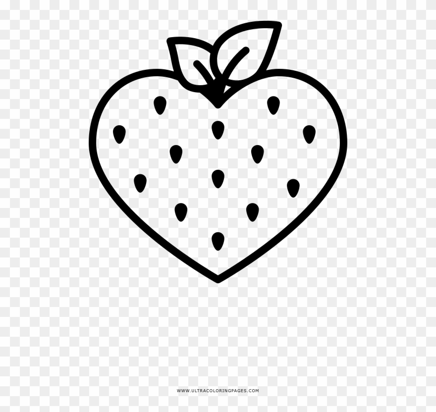 Strawberry Coloring Page Clipart 3018284 Pinclipart