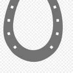 Black And White Horseshoe Clipart Horse Shoe Clipart Png Transparent Png 3627311 Pinclipart