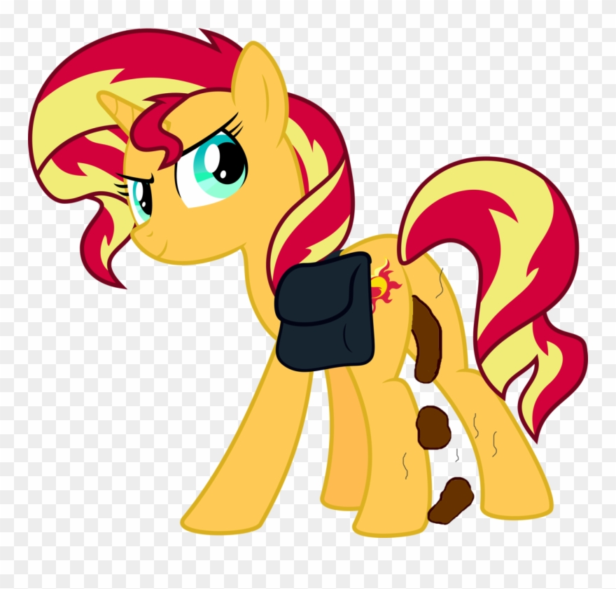 Edit Explicit Female Pony Poop Scat Solo Solo Sunset Shimmer Pony Form Clipart 3776275 Pinclipart