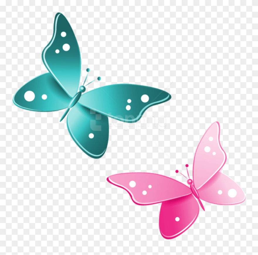 Download Blue And Pink Butterflies Clipart Png Photo Butterfly Clipart Png Transparent 4060509 Pinclipart