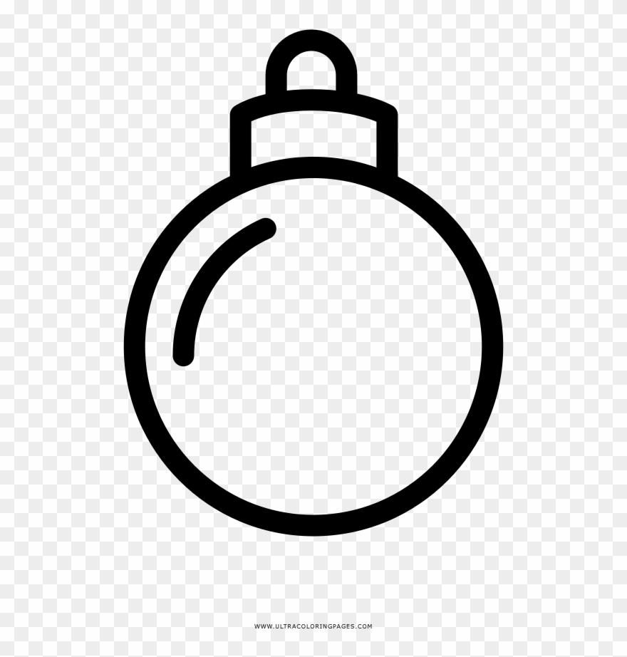 Christmas Ornament Coloring Page Line Art Clipart 4462797 Pinclipart