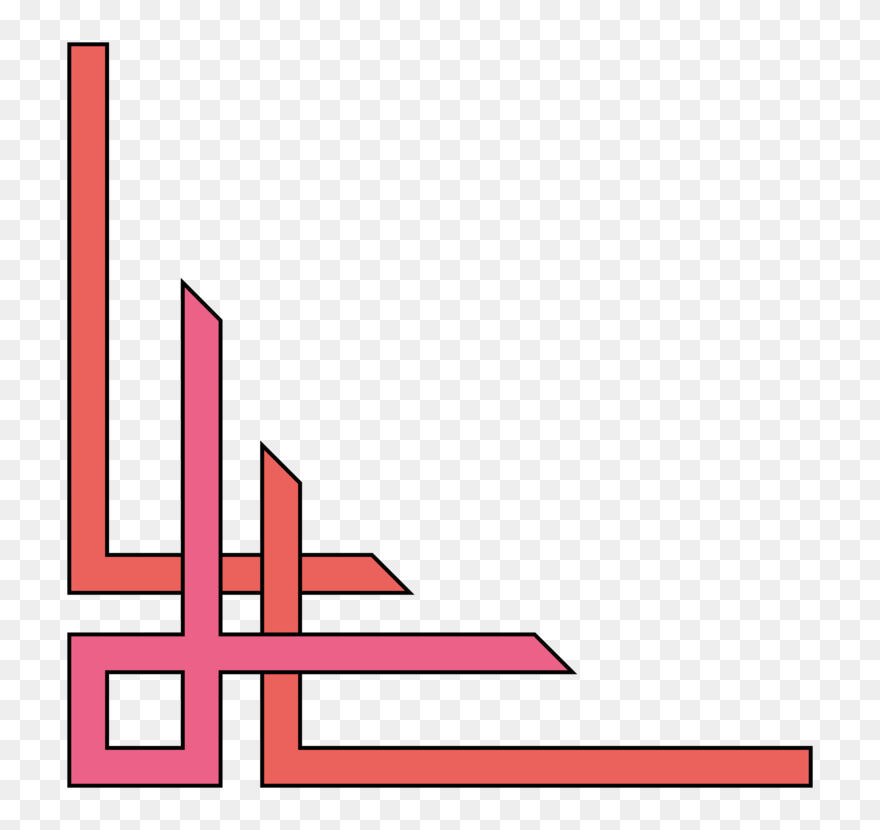 Pink Angle Area Simple Border Designs For Projects Clipart 5805445 Pinclipart