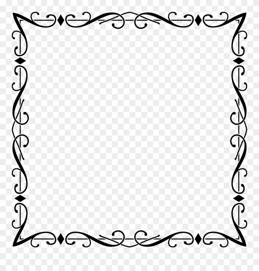 Black And White Clip Art Borders And Edges