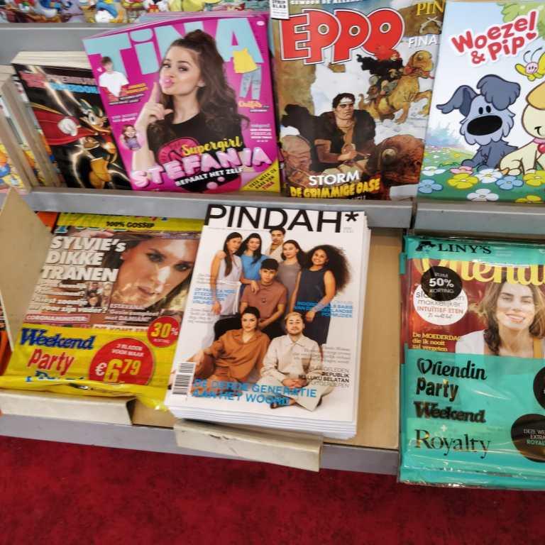 Win een gratis PINDAH*. Maak een foto van PINDAH* bij uw tijdschriftenwinkel