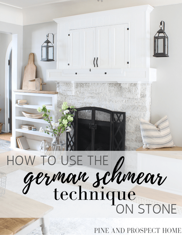 How To Use The German Schmear Technique On Stone Pine And