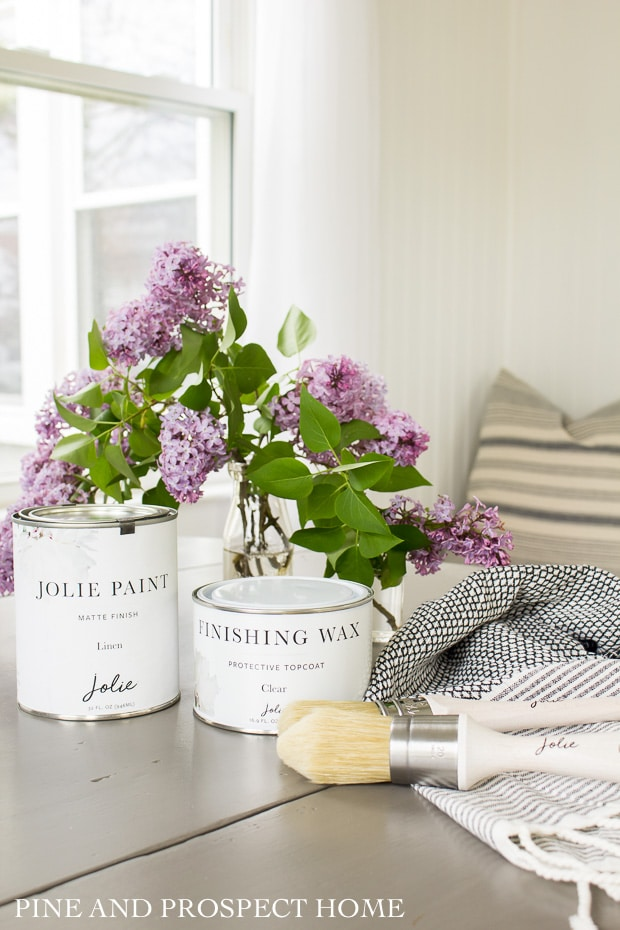 Jolie paint was so wonderful to work with. It's a premium paint so it's a bit more pricey, but the coverage was amazing.