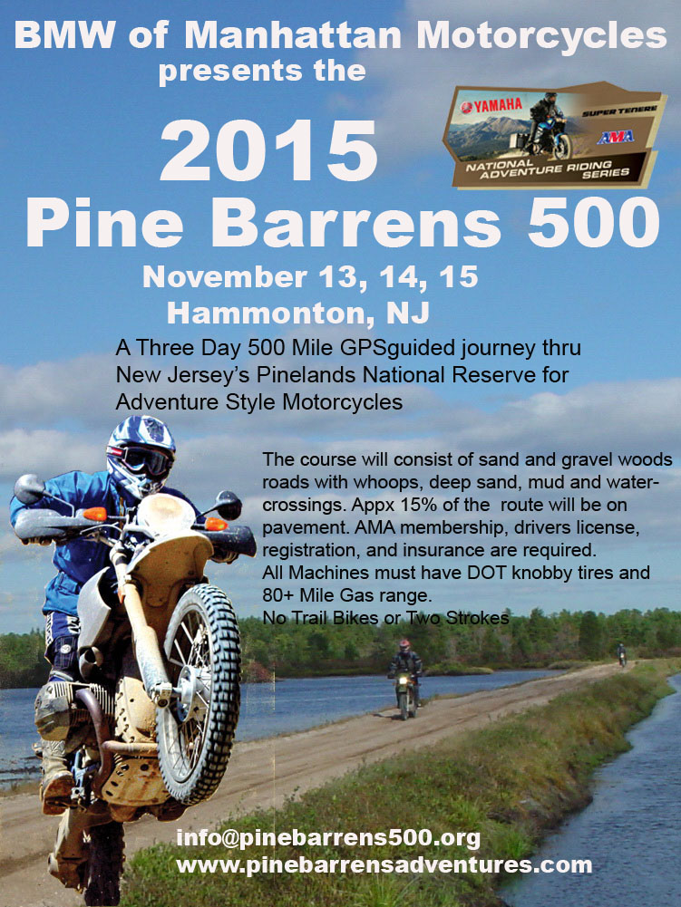 The Pine Barrens 300 And 500 Adventure Rides Pine Barrens