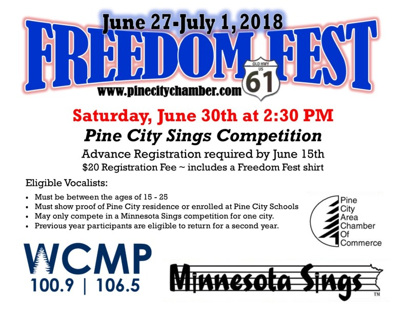 Pine City Sings Promotion