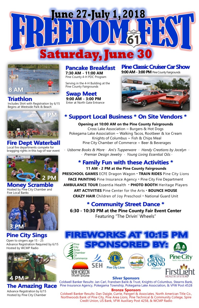 Freedom Fest 2018 Schedule of Events