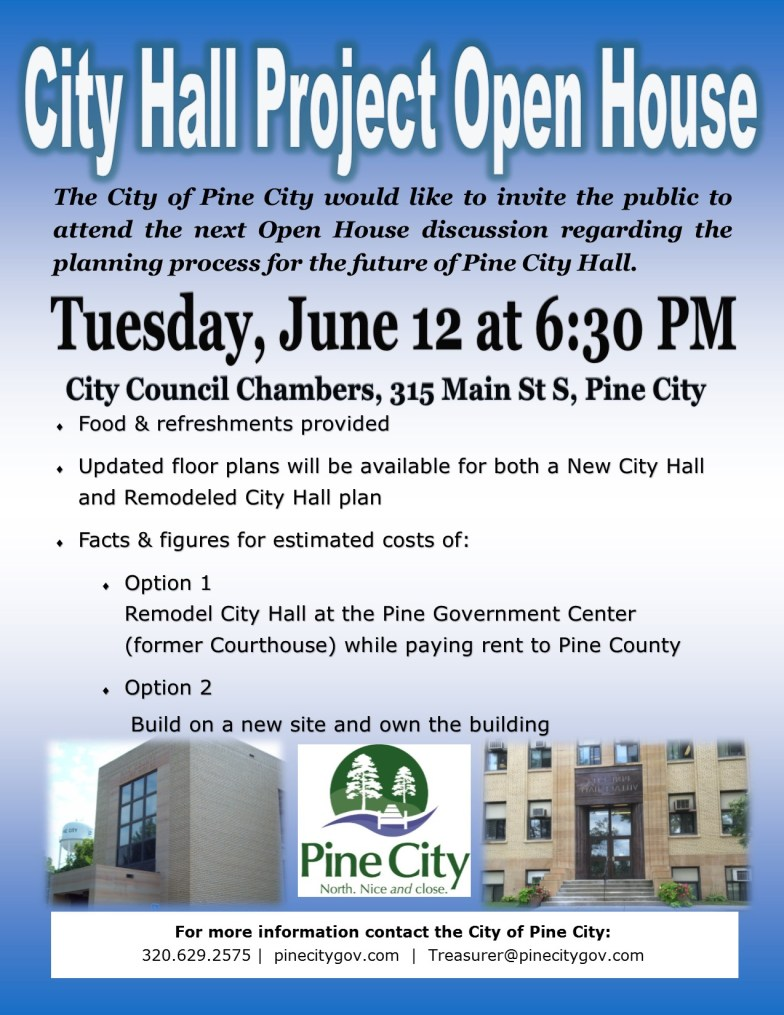 Flyer for City Hall Open House