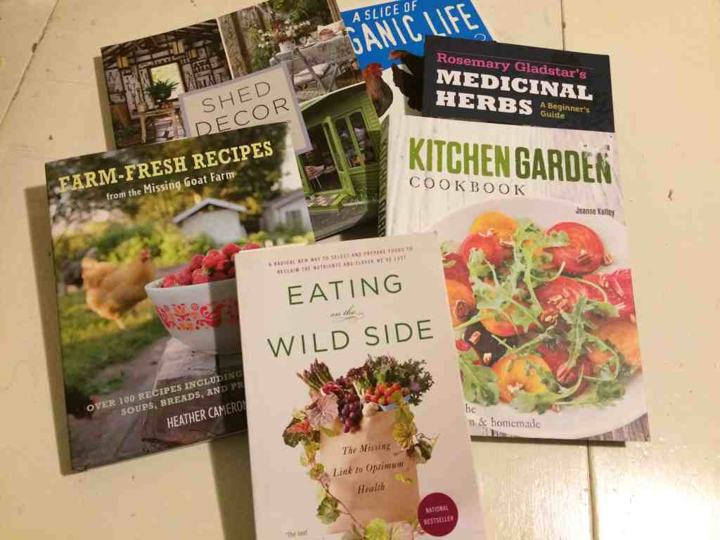 Garden and Cookbooks to read