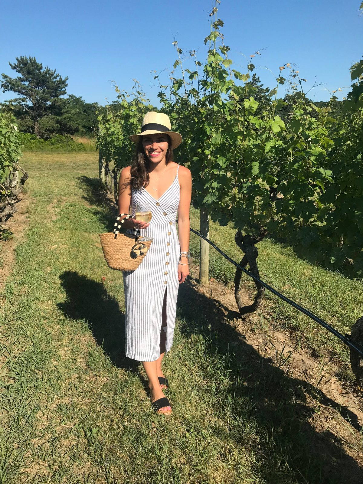 5cd00c9ea 10 Things I'm Buying This Summer. July 5, 2018. winery, striped dress,  dress, hat