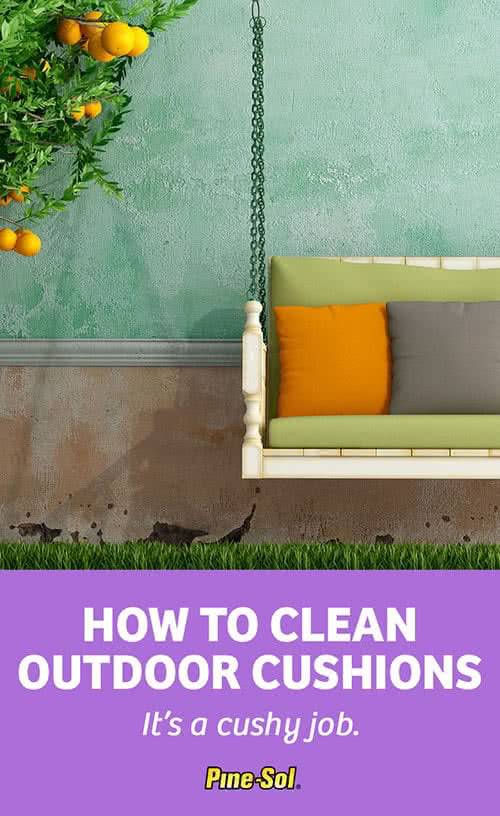 how to clean outdoor cushions pine