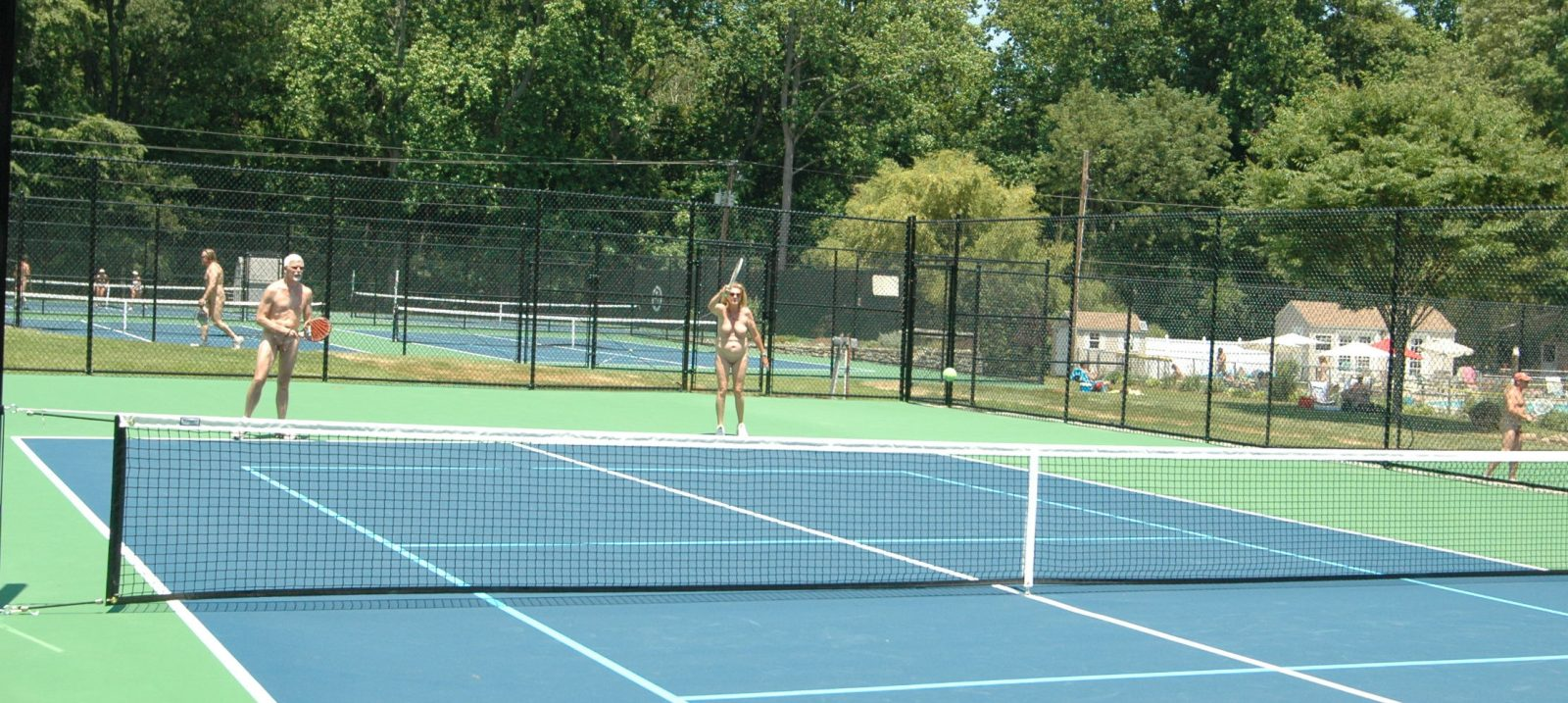 Sports: The tennis courts at Pine Tree.
