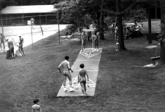 The old shuffle board court at Pine Tree.