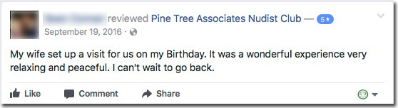 Reviews: Pine Tree Associates Nudist Club - Facebook review #5