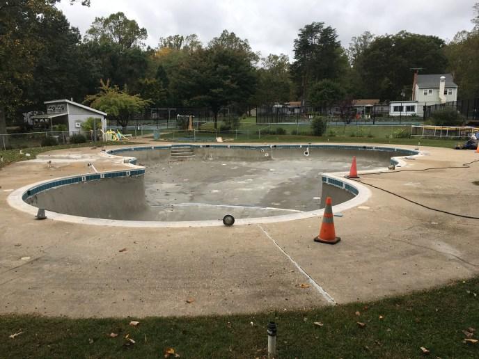 Pine Tree pool refurbished