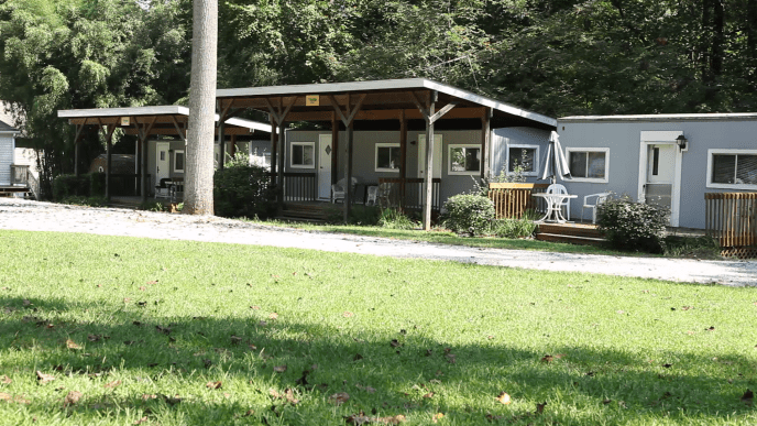 Pine Tree Associates rental cabins.