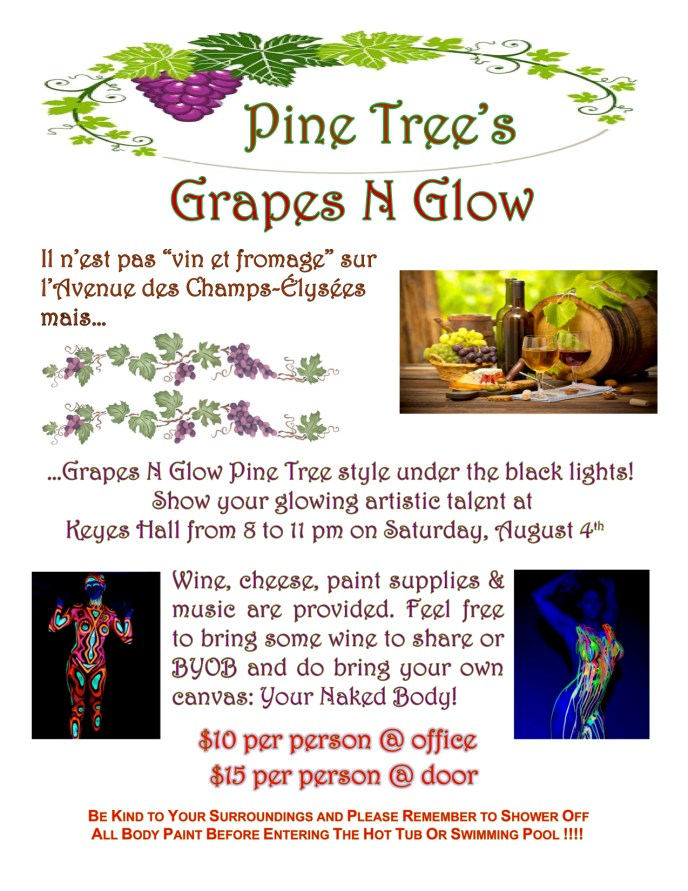 Grapes & Glow 2018 Flyer