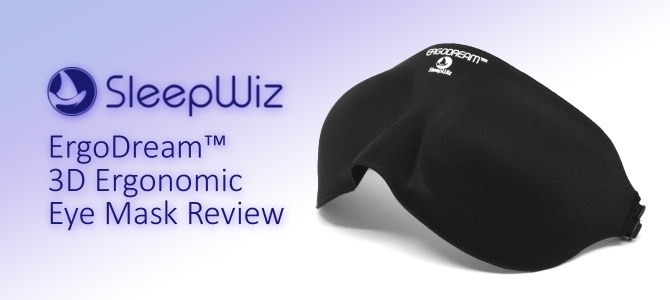 Sleep better with SleepWiz ErgoDream eye mask