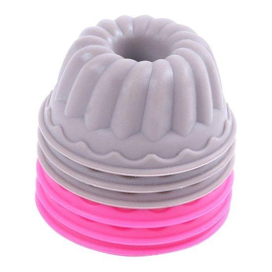 Affi: Siliconen Tulpband Vorm Vormpjes - 6 Stuks Cupcake Vormpjes