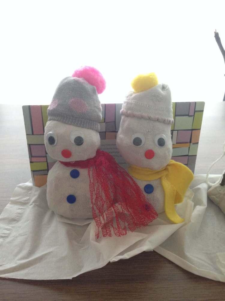Sneeuwman knutselen winter