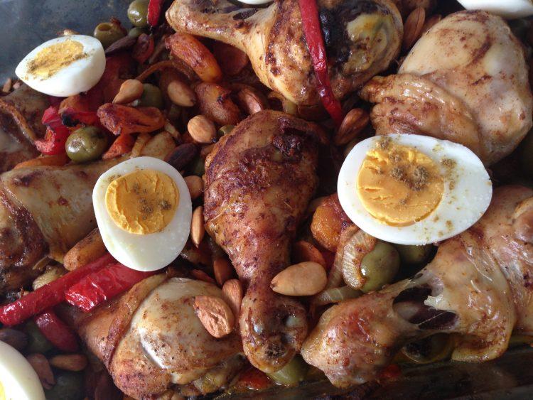 Marokkaanse zoete kip uit de oven recept