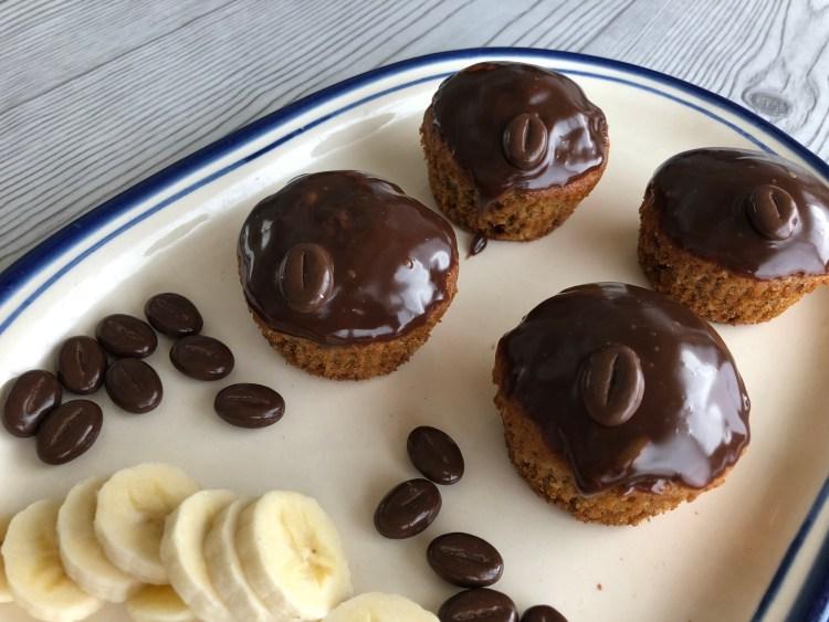 Koffie-banaan cupcakes maken