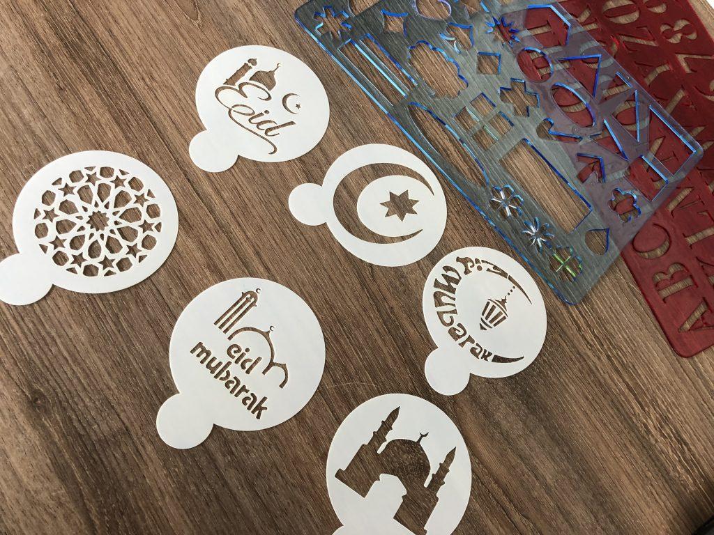 Eid cadeauverpakking zelf maken met stencils