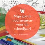 Goede voornemens schooljaar 2018 2019 PinGetest