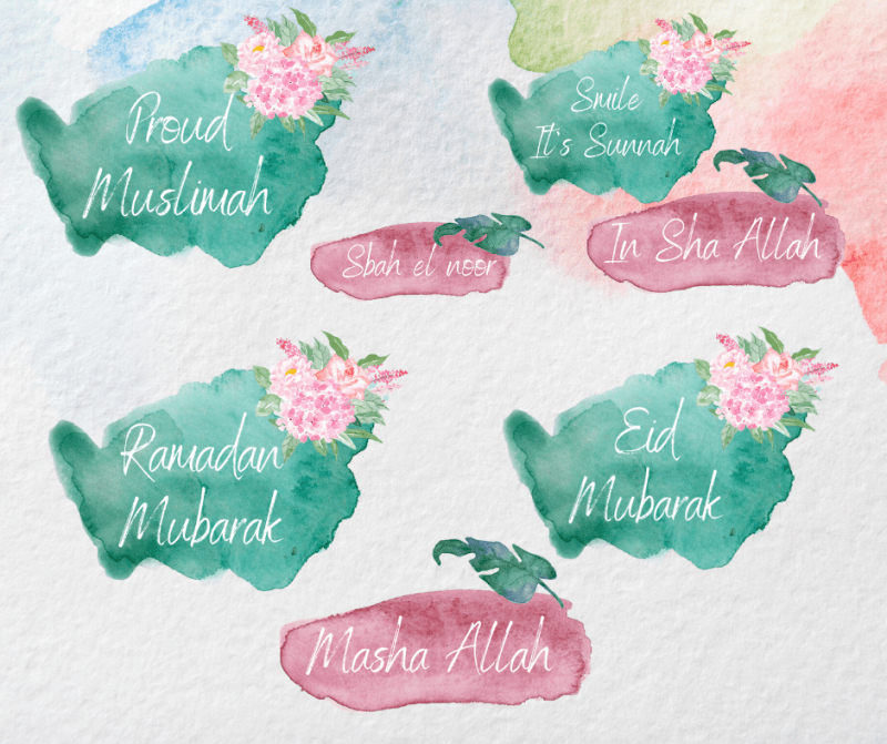 Instagram stickers Watercolor Pink & Green downloaden kopen