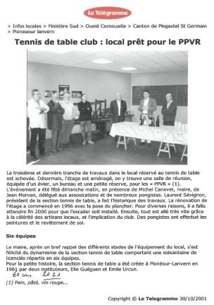 Télégramme du 30/10/2001