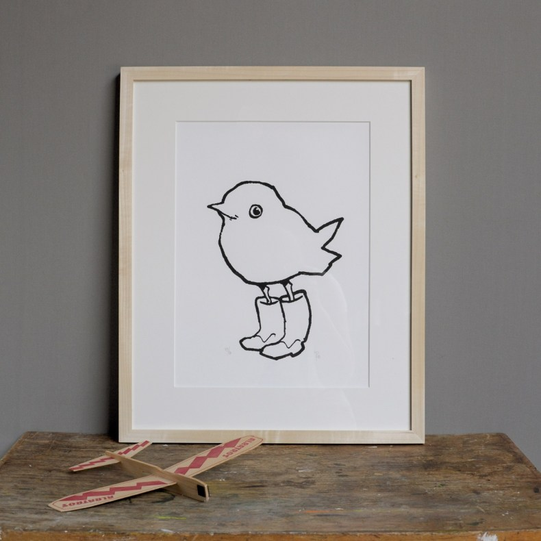 Chick in boots artwork
