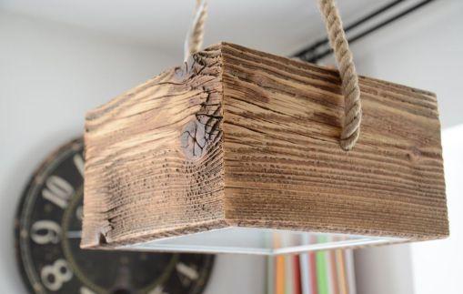 Design lampy z drewna