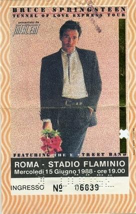 biglietto roma 15-6-88